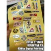 Jasa Cetak Sticker Reflective A3