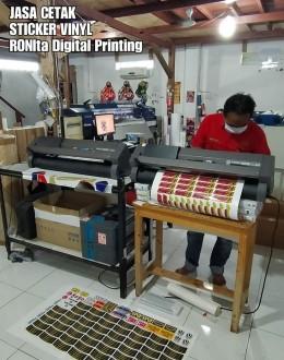 Jasa Cetak Sticker RONIta Digital Printing