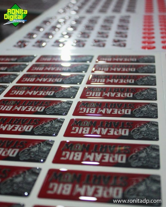 Print Resin Sticker RDS Standar LED UV