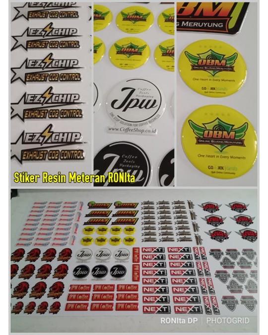 Cetak Stiker Resin Vinyl Premium A3+ (Setara Oracal 651)