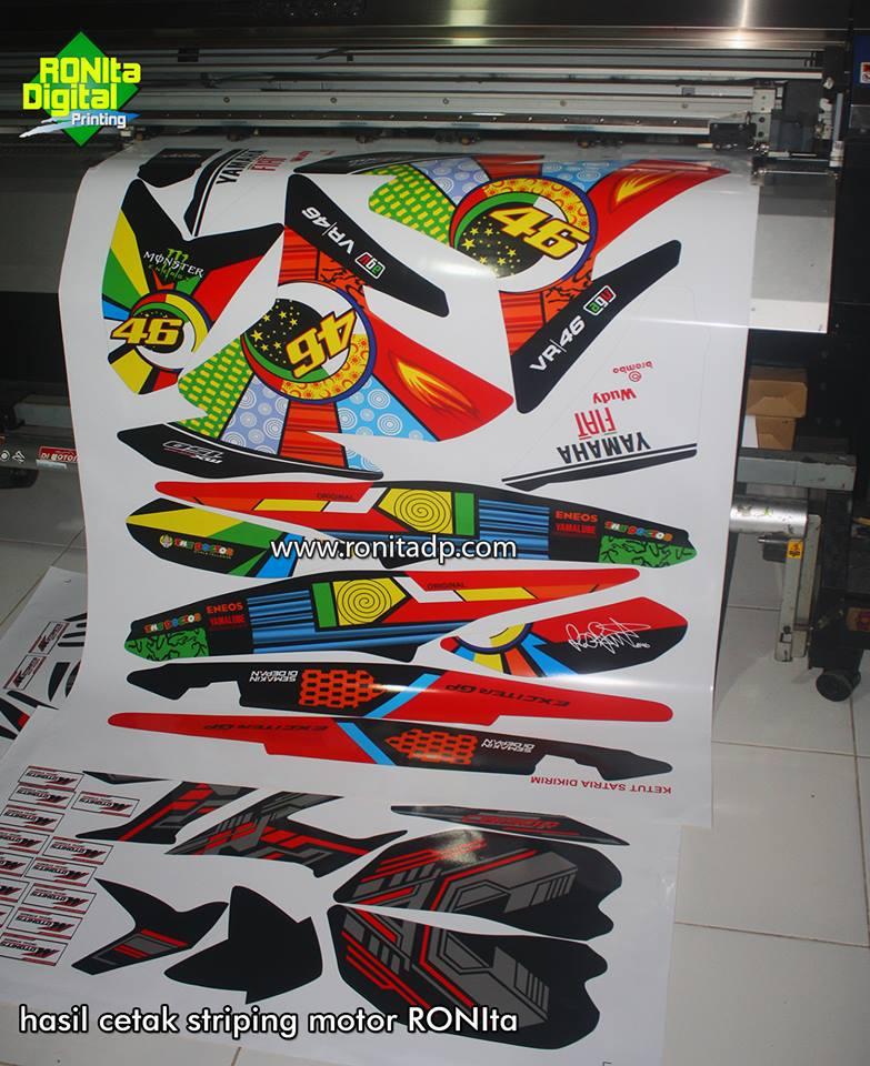 Proses print sticker decal striping motor